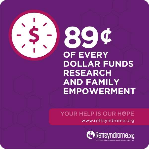 89 cents of every dollar funds research and family empowerme