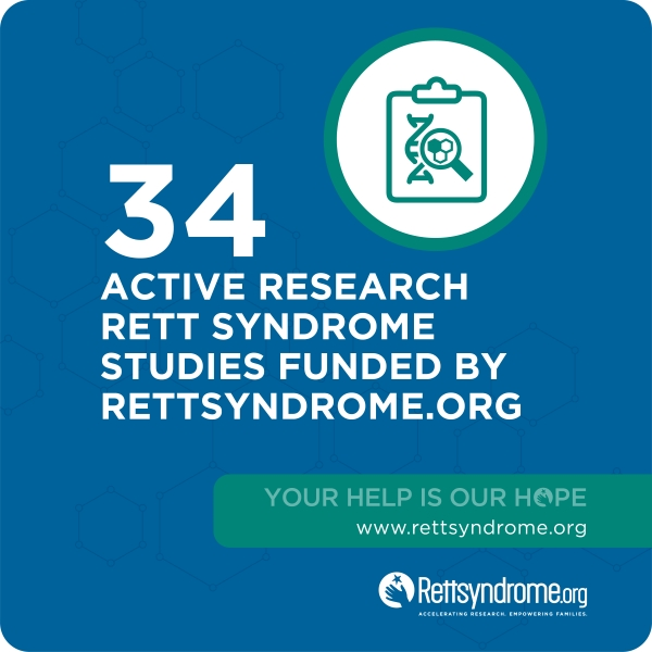 34 active research Rett Syndrome studies funded by rettsyndr