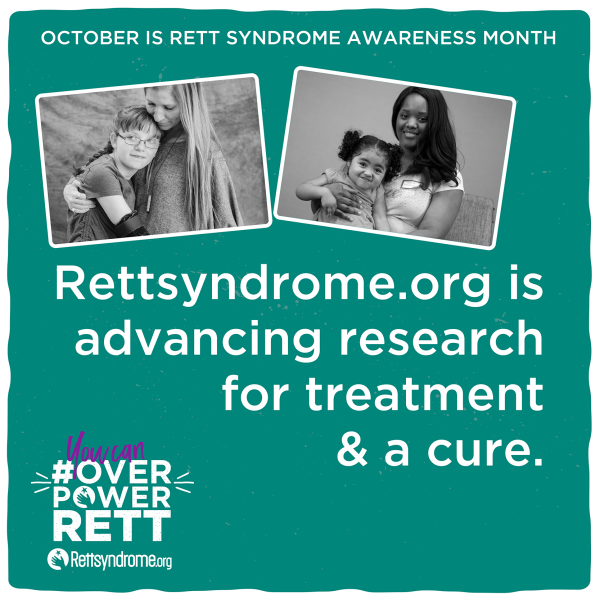 Rettsyndrome.org is advancing research for treatment & a cure.